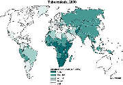 World TB distribution